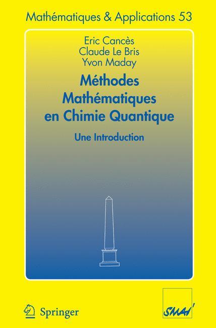 Méthodes mathématiques en chimie quantique