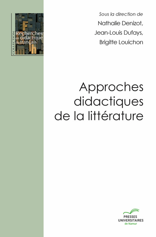 Approches didactiques de la litterature