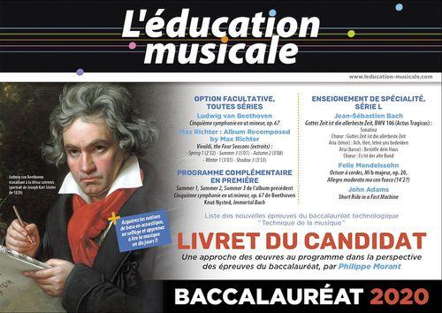 L'éducation musicale ; livret du candidat ; Bac 2020