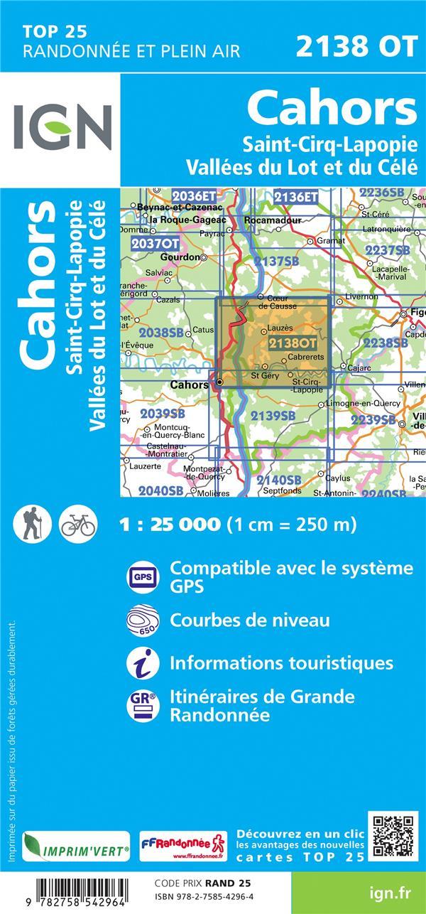 2138OT ; Cahors, Saint-Cirq-Lapopie,Vallées du Lot et du Célé (3e édition)
