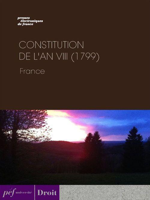 Constitution de l'an VIII (1799)