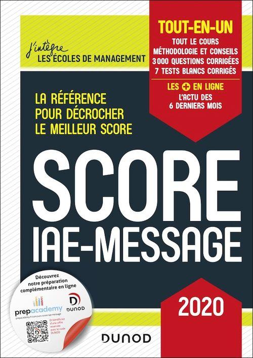 Score IAE message ; tout-en-un (édition 2020)