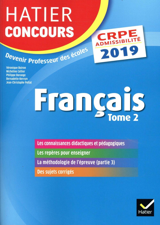 Crpe ; français tome 2 ; épreuve écrite d'admissibilité (édition 2019)