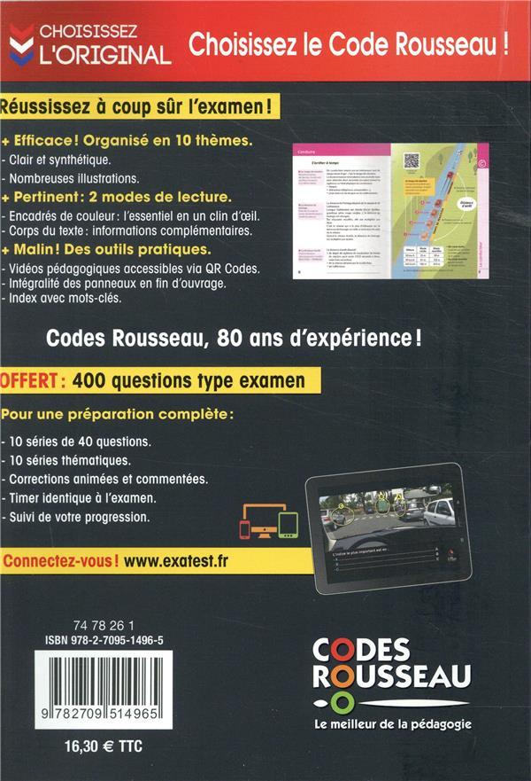 Code Rousseau ; le code de la route (édition 2020)