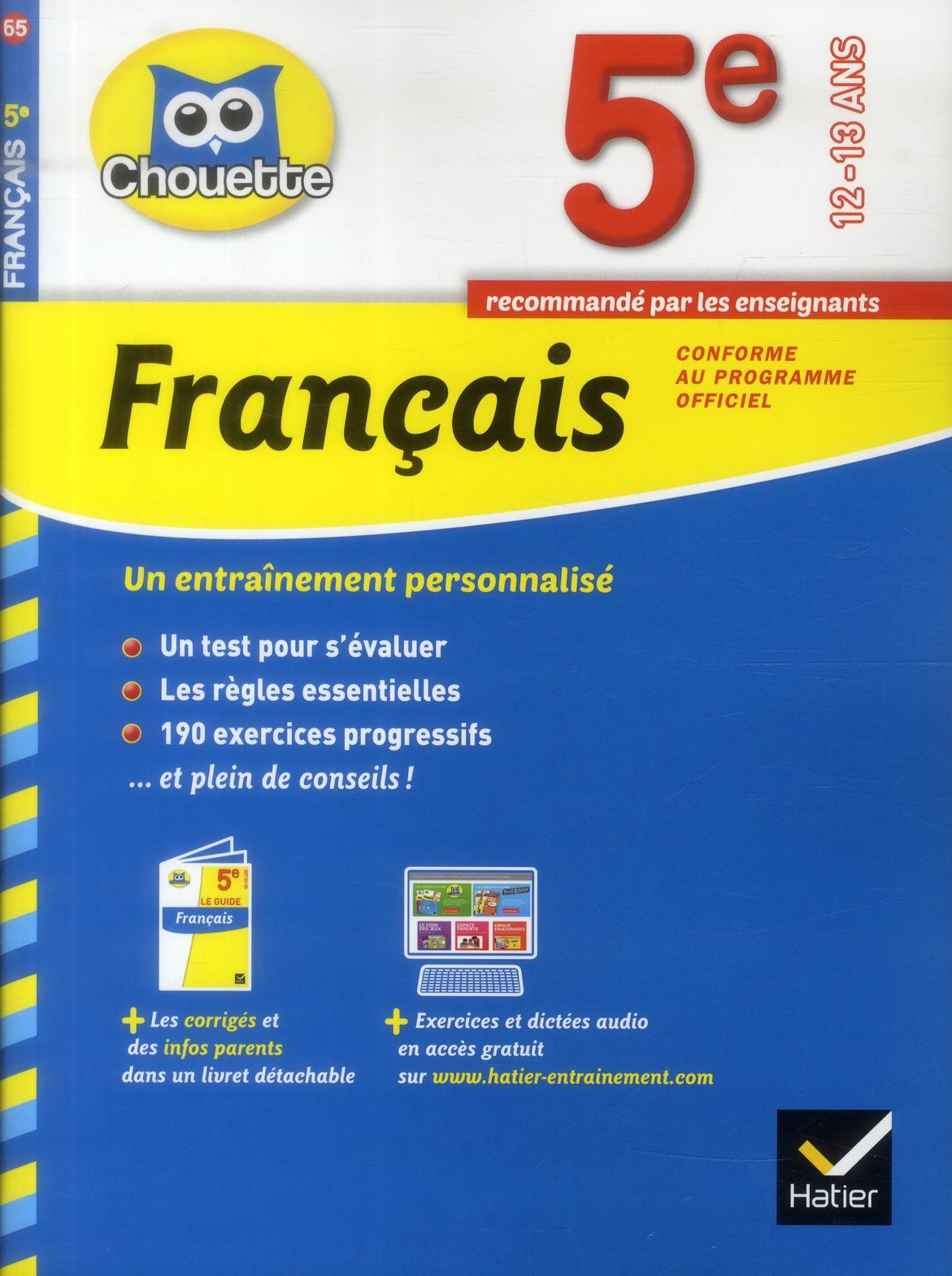 Chouette Francais 5eme Thierry Marquetty Hatier Grand Format Place Des Libraires