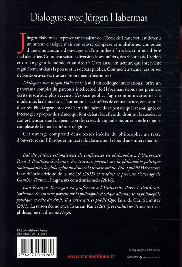 dialogues avec Jürgen Habermas