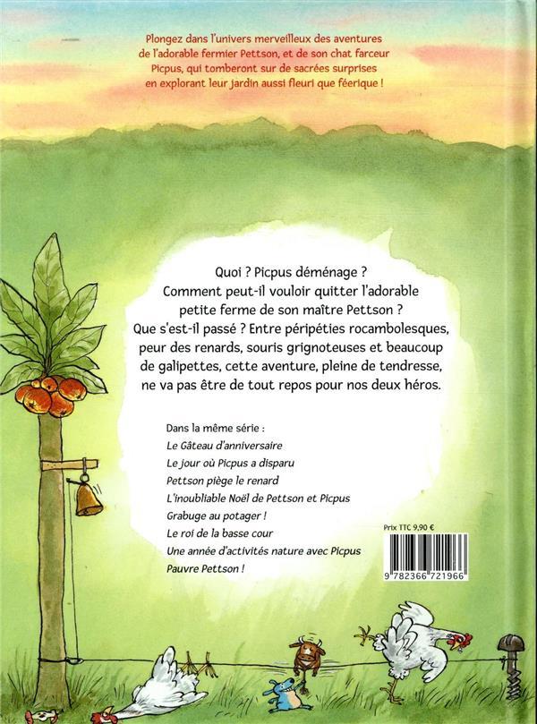 Les aventures de Pettson et Picpus ; Picpus déménage