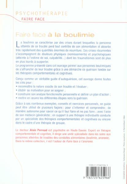 FAIRE FACE ; à la boulimie