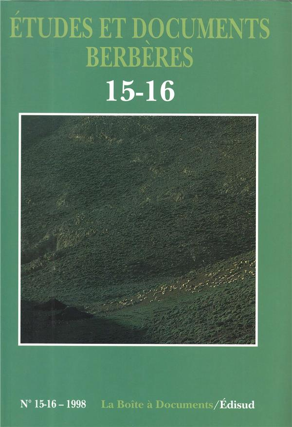 Etudes et documents berberes n.15 (edition 1998)
