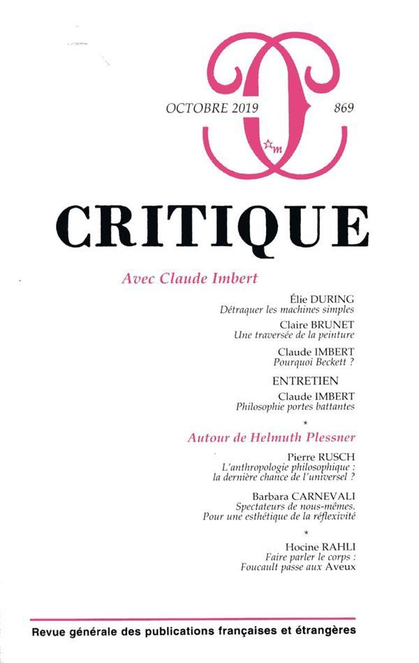 REVUE CRITIQUE N.869  -  OCTOBRE 2019