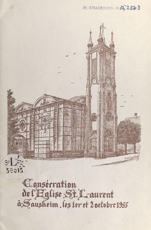 Consécration de l'église St. Laurent à Sausheim les 1er et 2 octobre 1955