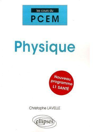 Physique Nouveau Programme L1 Sante