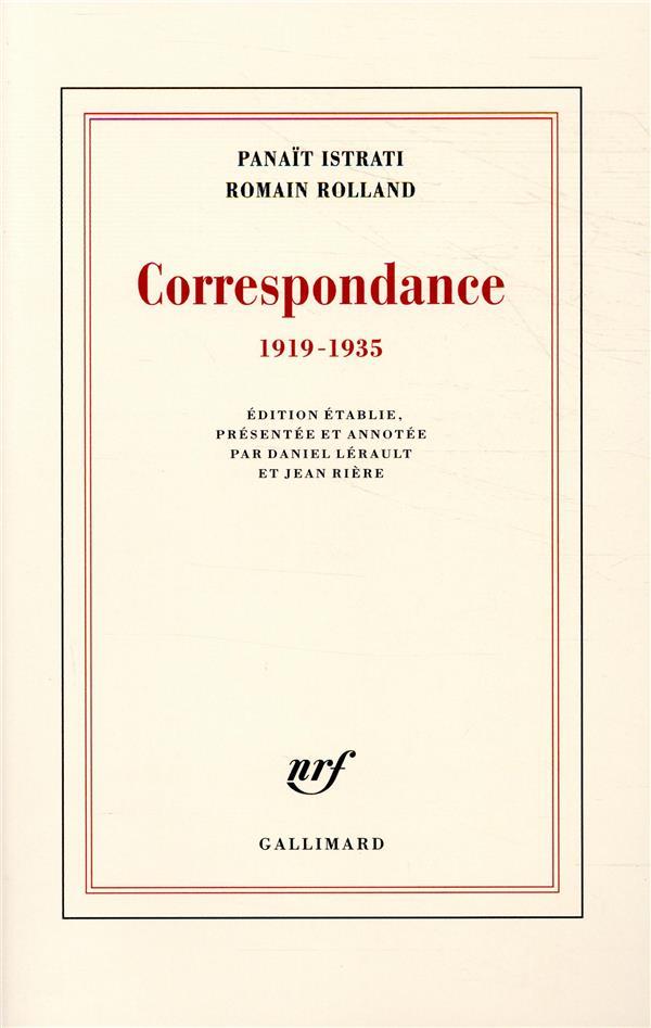 Correspondance ;1919-1935