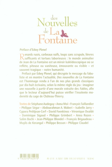 Des nouvelles de La Fontaine