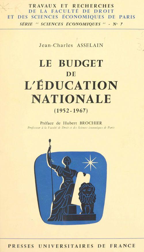 Le budget de l'Éducation nationale
