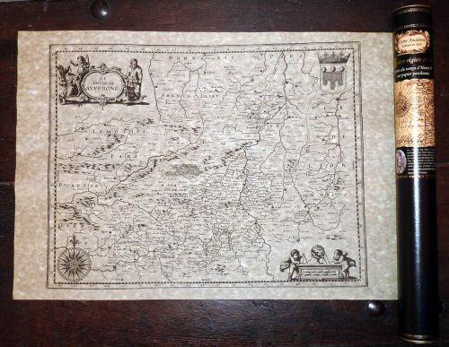 Auvergne en 1640 50 cm x 38 cm