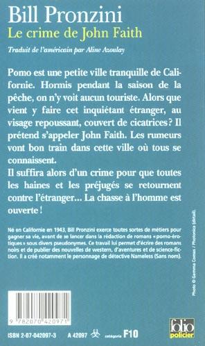 Le crime de john faith