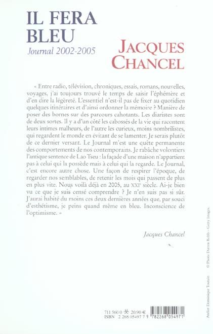 Il fera bleu ! - journal 2002-2005