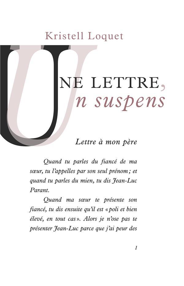 Une lettre, un suspens
