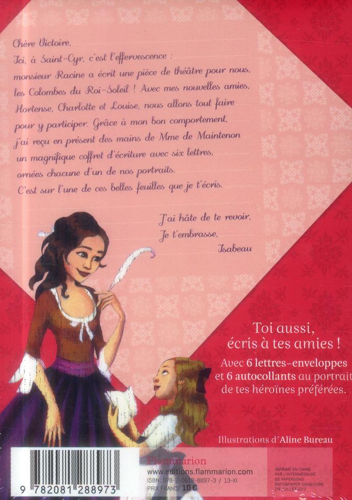 Les colombes du Roi-Soleil ; les comédiennes de Monsieur Racine ; coffret d'écriture