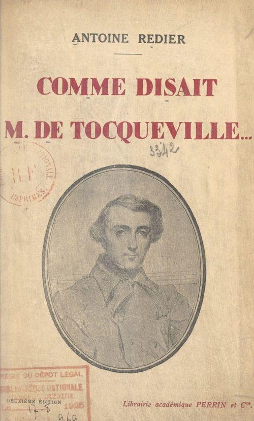 Comme disait Monsieur de Tocqueville...