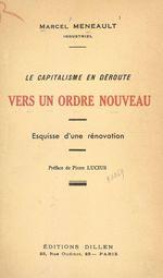 Le capitalisme en déroute. Vers un ordre nouveau  - Marcel Meneault