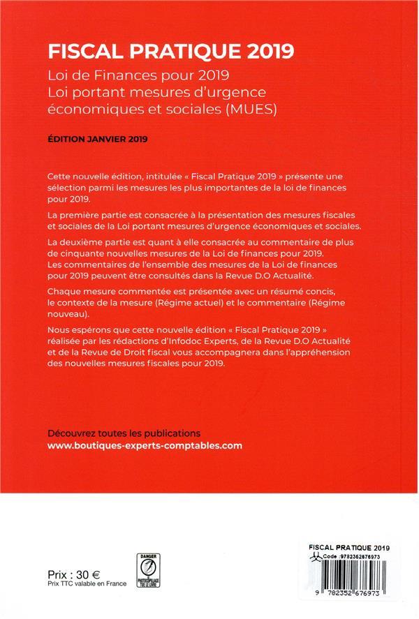 fiscal pratique ; lois de finances (édition 2019)