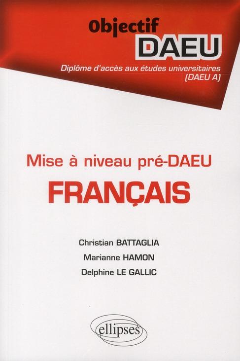 Francais Formation Pre-Daeu A