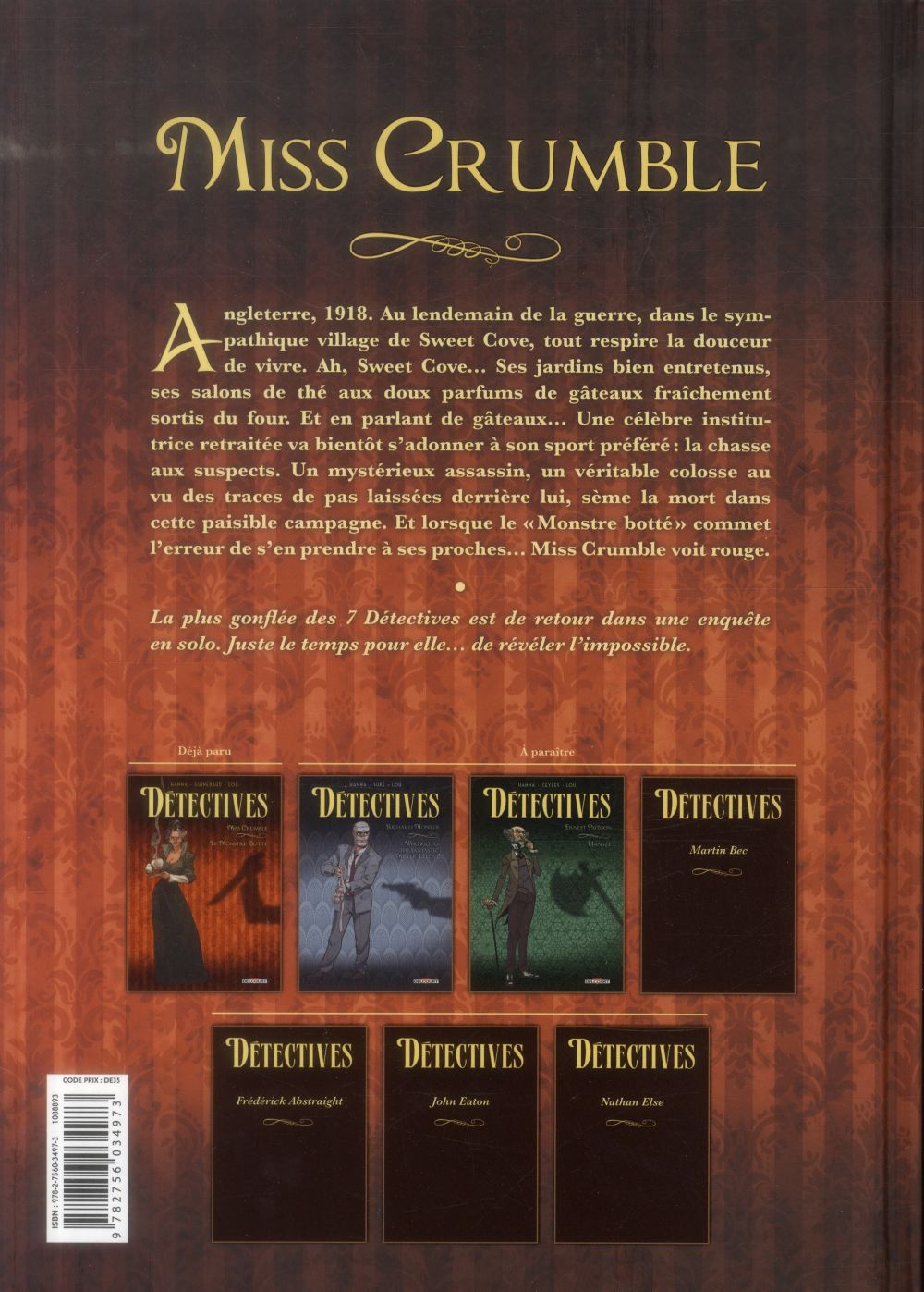 Détectives T.1 ; Miss Crumble, le monstre botté