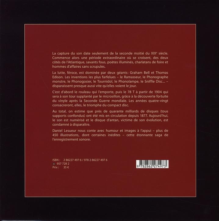 l'histoire du disque et de l'enregistrement sonore