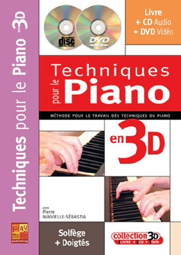 Techniques pour le piano en 3D ; solfège + doigtés
