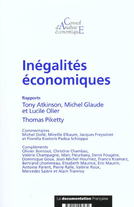 Cae t.33 ; inegalites economiques