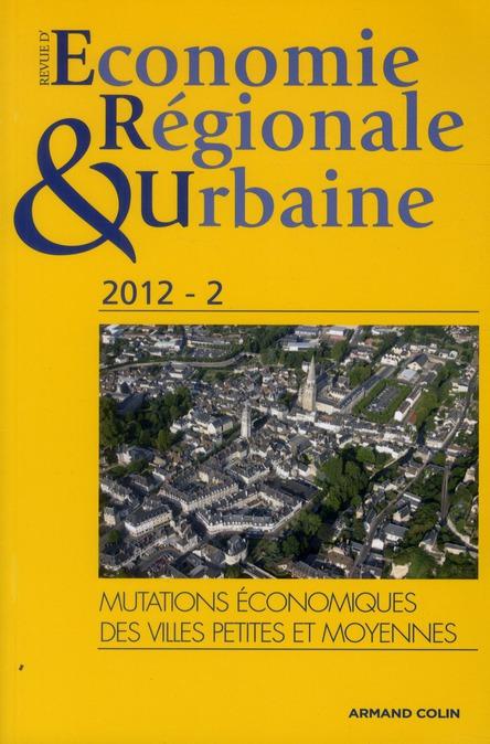 Revue d'économie régionale et urbaine n.2 ; les villes moyennes