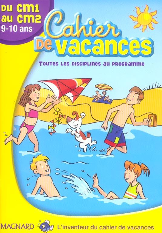 Cahier De Vacances; Du Cm1 Au Cm2 ; 9/10 Ans