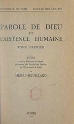 Parole de Dieu et existence humaine (1)