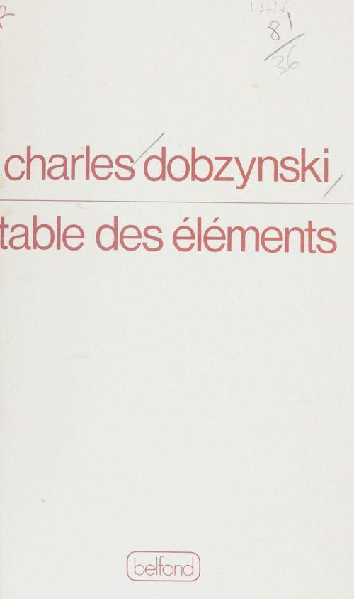 Table des elements