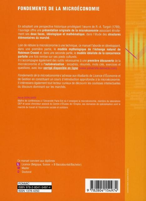 fondements de la microéconomie