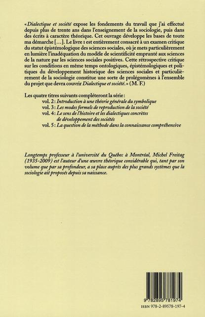 La connaissance sociologique t.1 ; dialectique et société