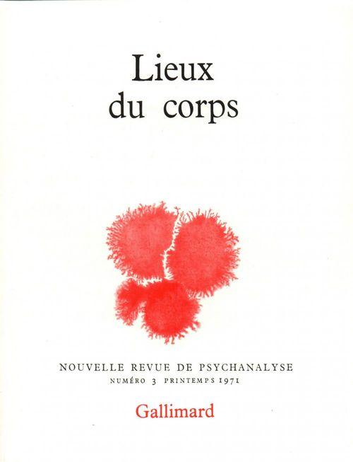 Nouvelle revue de psychanalyse T.3 ; lieux du corps