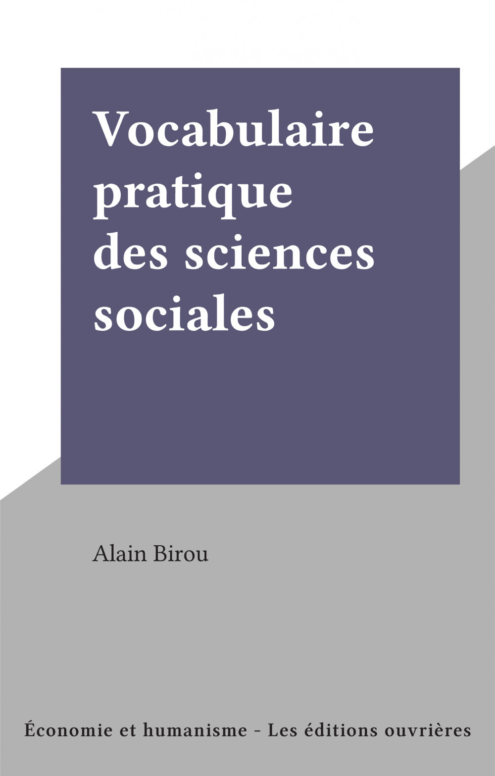 Vocabulaire pratique des sciences sociales