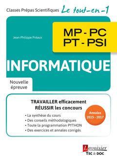 Informatique 1re année (MPSI, PCSI, PTSI)