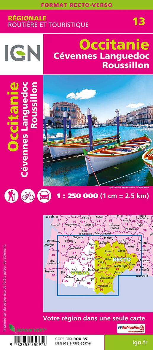 NR13 ; Occitanie, Cévennes, Languedoc-Roussillon (2e édition)