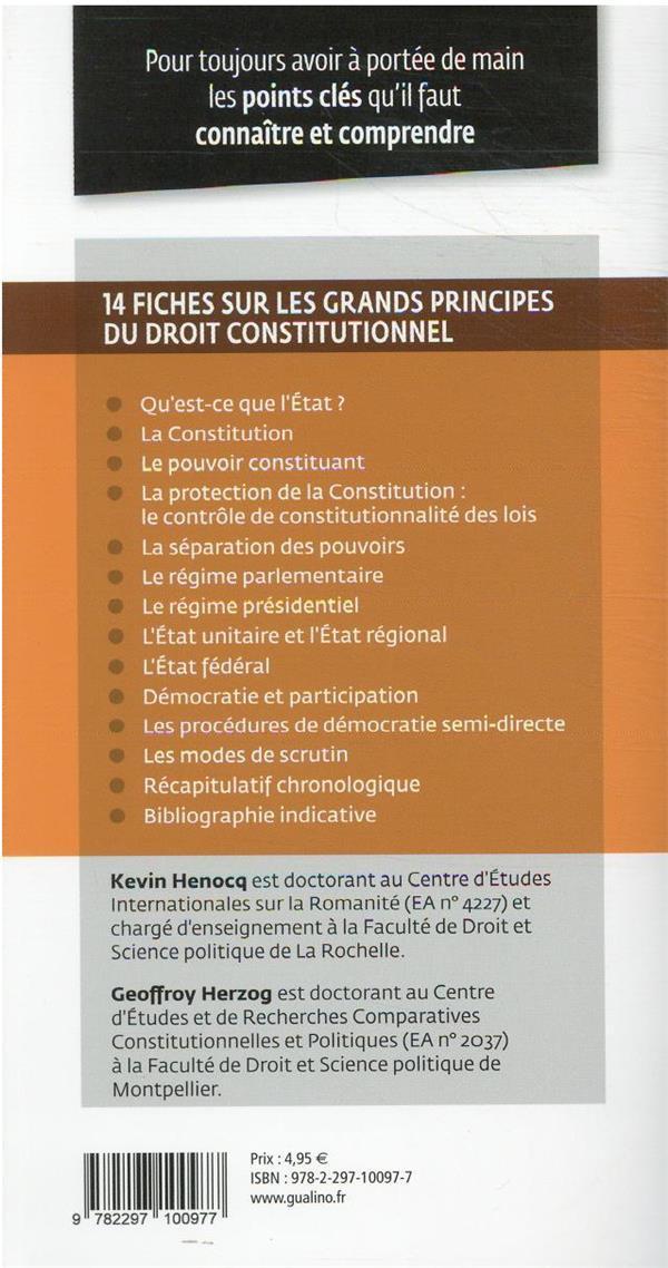 grands principes du droit constitutionnel