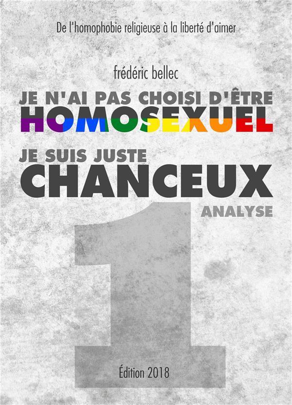 Je n'ai pas choisi d'être homosexuel, je suis juste chanceux t.1 ; analyse ; de l'homophobie religieuse à la liberté d'aimer