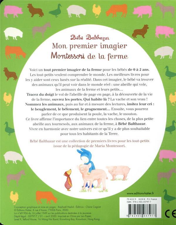 bébé Balthazar ; mon premier imagier Montessori de la ferme