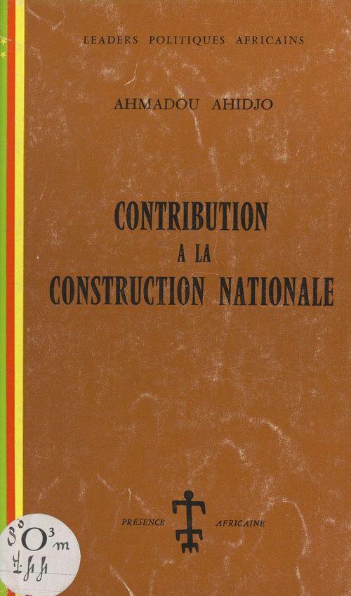 Contribution à la construction nationale