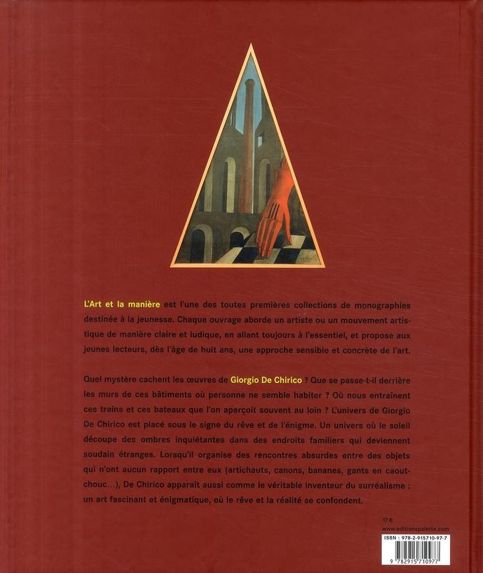 Giorgio de Chirico ; la face cachée du monde
