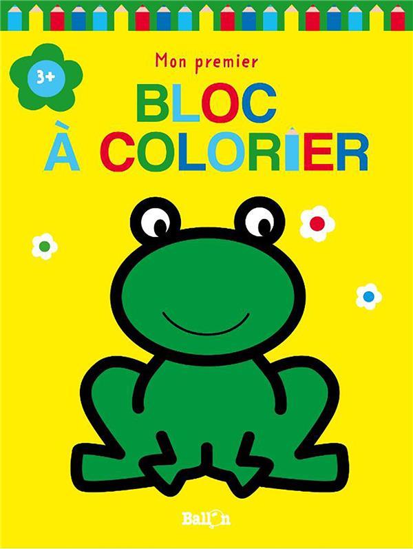 Mon premier bloc à colorier ; grenouille