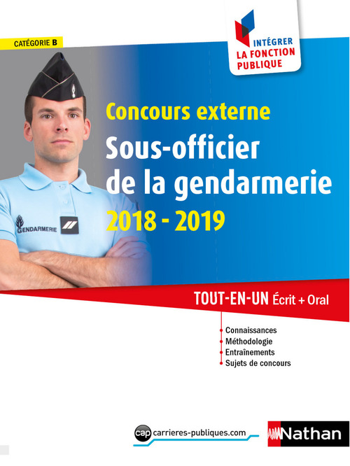 Concours externe Sous-officier de la gendarmerie- Catégorie B - Intégrer la fonction publique - 2018-2019