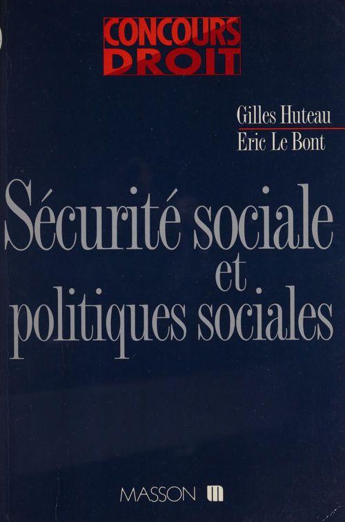 Securite sociale et politiques sociales